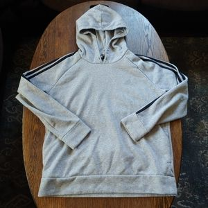 Adidas gray pocketed hoodie size boys XL 20/22